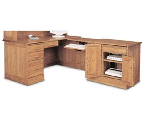 l shaped oak computer desk haugen home solid oak l shaped computer desk ebay