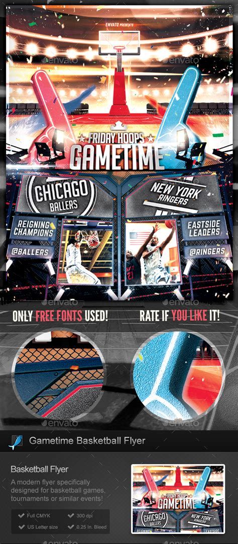 Basketball Gametime Tournament Flyer Template By