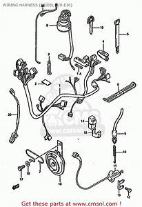 Suzuki Gn125 1994  R   E01 E02 E04 E21 E34  Wiring Harness
