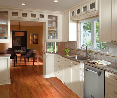 Crown Moulding Ideas For Kitchen Cabinets - off white cabinets in casual kitchen kitchen craft cabinetry