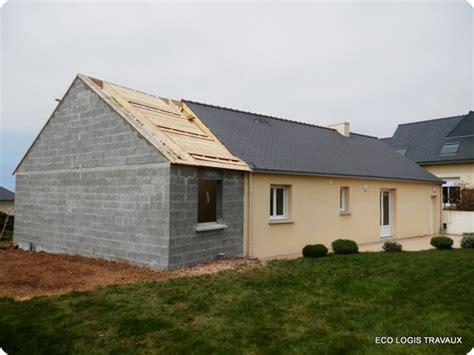 plan de maison plain pied 4 chambres agrandissement de maison en v eco logis travaux