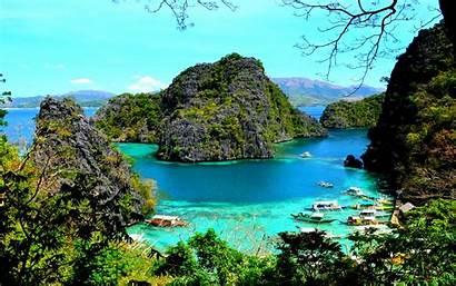 Palawan Coron Lake Philippines Island Kayangan Lagoon