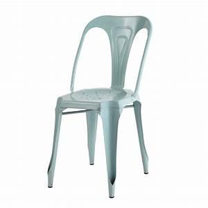 Chaise Tolix Maison Du Monde : chaise indus en m tal bleu clair multipl 39 s maisons du monde ~ Melissatoandfro.com Idées de Décoration