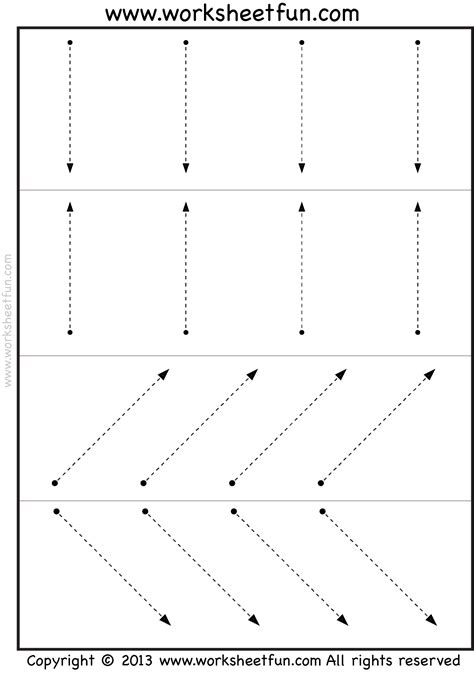 free coloring pages of horizontal tracing line