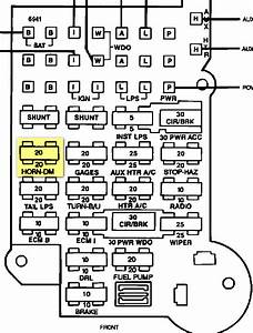 1995 S10 Fuse Box Diagram