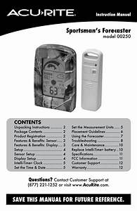 Acurite 00250 Weather Station User Manual