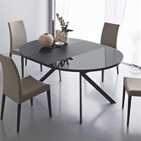 but table ronde table ronde extensible en verre giove 4 pieds tables chaises et tabourets