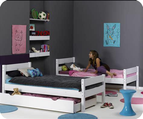 comment disposer une chambre lit enfant superposé 1 2 3 blanc 90x190 cm