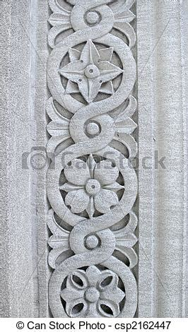 decorative concrete pillars floral pattern carved into a pillar floral design