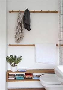 salle de bain esprit vestiaire decoration interieur With porte d entrée pvc avec colonne salle de bain gain de place