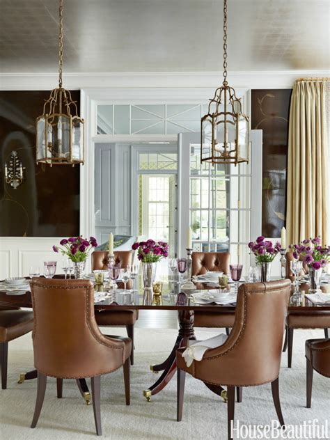 Beautiful Dining Rooms by 54c2e40d16f53 05 Hbx Chocolate Lacquered Walls 0912 S2