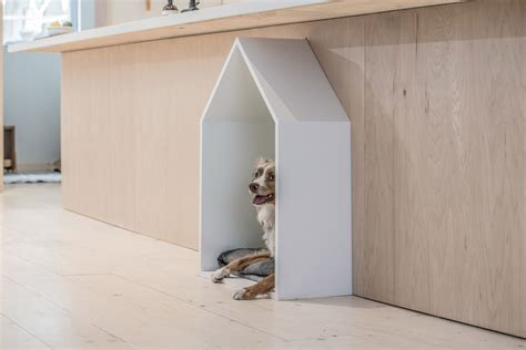 Studioac Inserts Plywood Unit Complete With Dog Bed Into