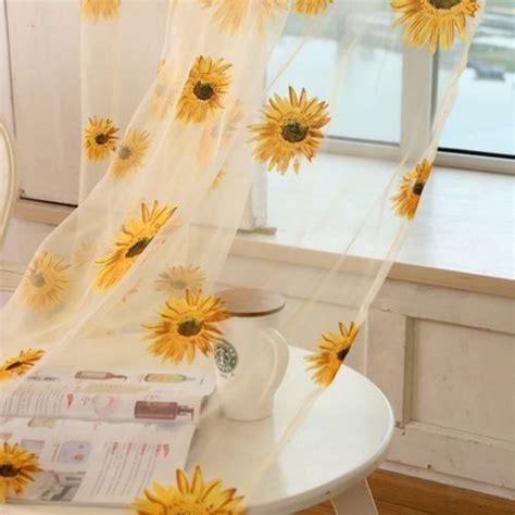 details  tulle window sunflower curtain drape divider