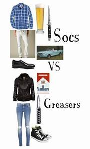 """""""Greasers Couple vs. Soc Couple"""" by shannon9300 liked on ..."""