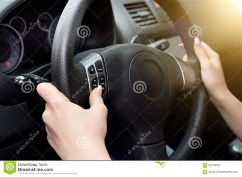 Female Hands Steering Wheel Stock Photo Image