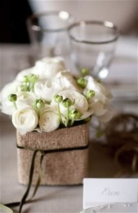 flowers floral centerpieces rose real classic burlap