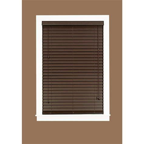 wood blinds home depot madera falsa mahogany 2 in faux wood plantation blind