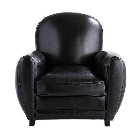 fauteuil croute de cuir fauteuil club en cro 251 te de cuir noir oxford maisons du monde