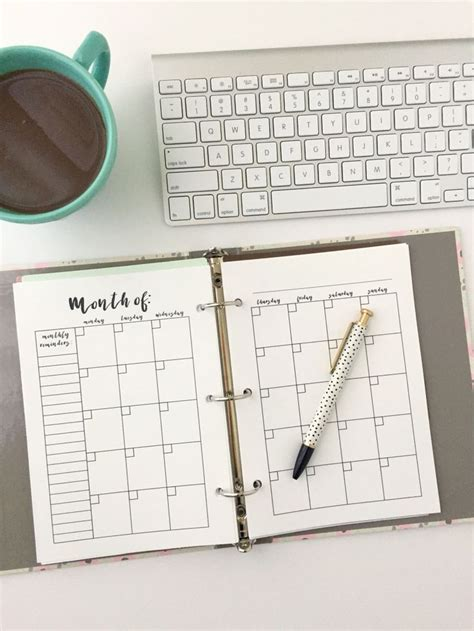 unique monthly planner ideas pinterest monthly planner
