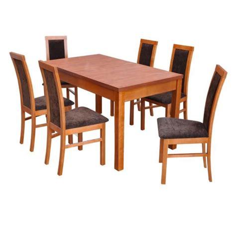 table et 6 chaises pas cher ensemble table extensible et 6 chaises tablewood estrella 160x90 40 cm achat vente table