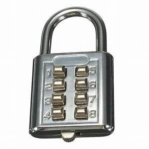 Comment Fermer Un Cadenas A Code 3 Chiffres : 8 chiffres bagages valise voyage code de combinaison de ~ Dailycaller-alerts.com Idées de Décoration
