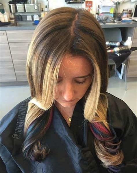 ideas  peek  boo highlights   hair color