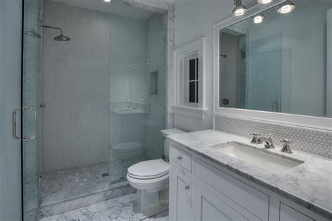 gray blue bathroom ideas this traditional white tile shower features a blue