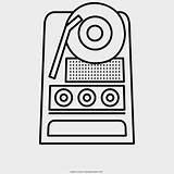Record Player Coloring Sticker Jing Fm sketch template