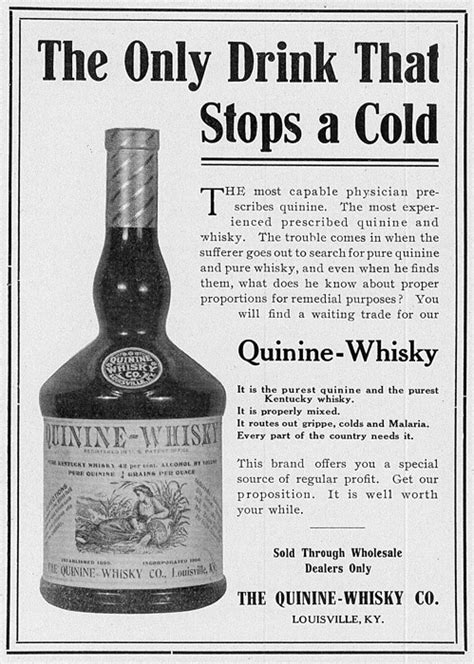 whiskey  health funny vintage ads