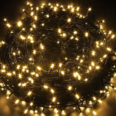 solar powered decorative twinkle led light string warm