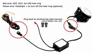 20w Cree Dual Led Fog Lights    Halo Rings Daytime Running Lights For Jeep Wrangler Grand