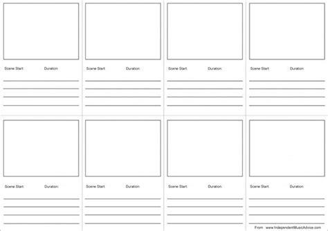 audio video storyboard templates
