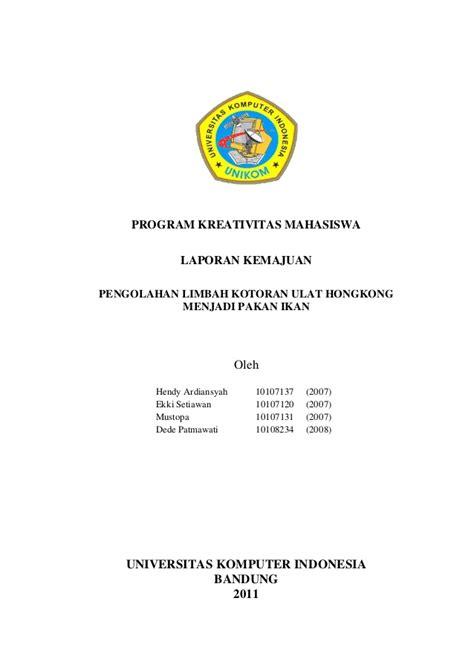 laporan kemajuan pkm  pengolahan limbah kotoran ulat
