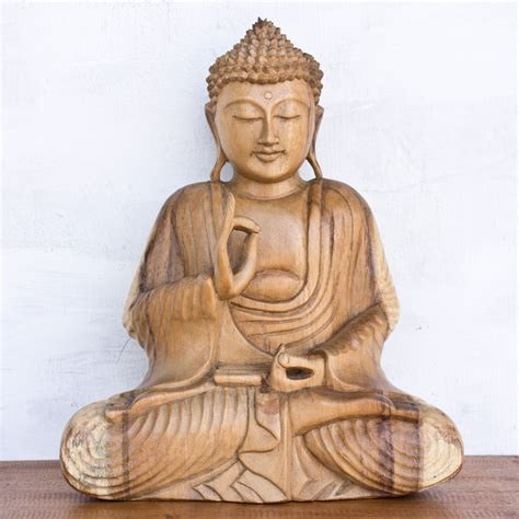 wooden buddha statue hand carved wholesale factory