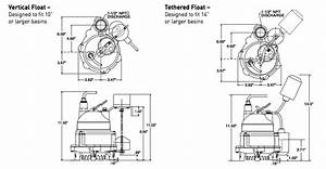 Myers Mdc Series Sump Pumps Dimensions