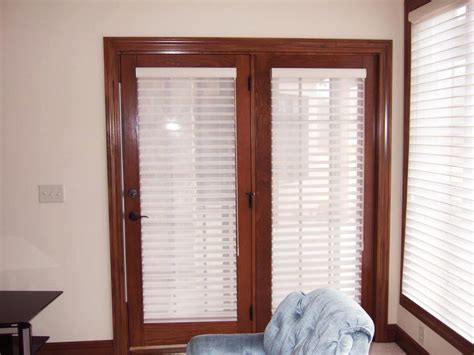 Windows French Patio Doors with Blinds