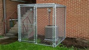 hfc dog kennel installation photos With dog crate fence