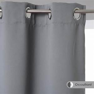 Rideau Gris Occultant : rideau occultant 140x260 gris ~ Teatrodelosmanantiales.com Idées de Décoration