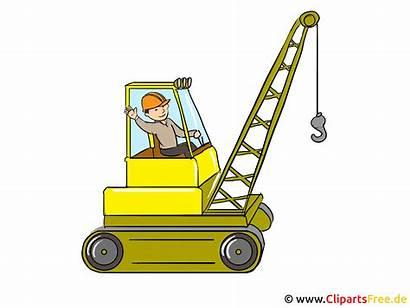 Clipart Bagger Baustelle Crane Construction Kinder Baumeister