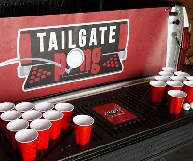 Truck Bed Beer Pong Table
