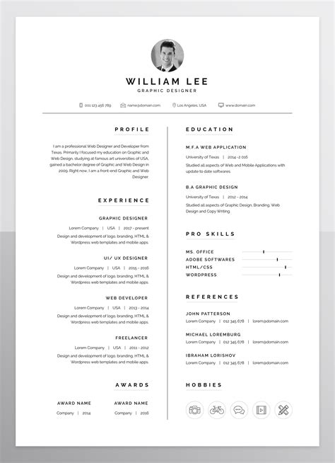 Sle Template For Resume by A Simple Clean Minimal And Professional Design Of Resume