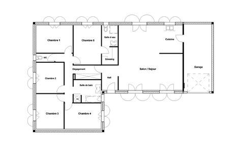 plan chambre plan maison 1 chambre plan maison bois r1 116m avec suite