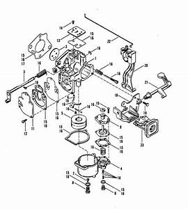 Mariner 2 5 Hp Carburetor Assembly  Mercury 25  Parts