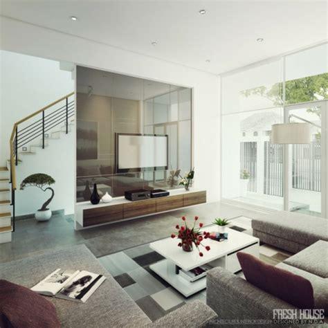 Moderne Wohnzimmer  Viel Licht Und Interessante Einrichtung