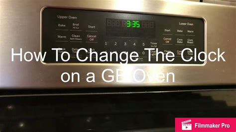 change  clock  set  time   ge general electric oven youtube