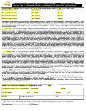 sky zone waiver form sky zone waiver fill online printable fillable blank