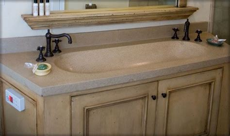 trough sink vanity with two faucets bathroom vanity concrete trough sink sonoma cast