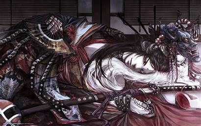 Samurai Mask Katana Fan Asian Wallpapers Afro