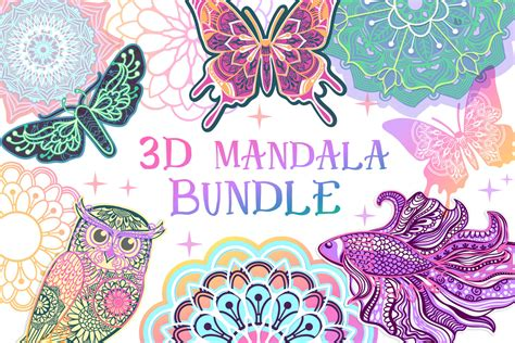 3d layered shell mandala cut file for crafters 5 layers. 3d Layered Mandala Svg Free | Free SVG Design. FREE SVG ...
