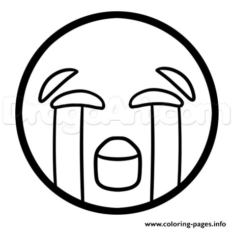 Coloring Emoji by How To Draw The Laughing Emoji Coloring Pages Printable